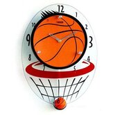 Basketball Hood Wall Clock