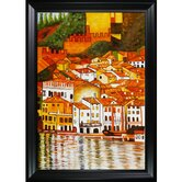 Malcesine on Lake Garda Canvas Art by Gustav Klimt Modern