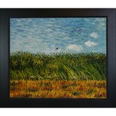 Edge of A Wheat Field with Poppies and A Lark Canvas Art by Vincent Van Gogh Rustic