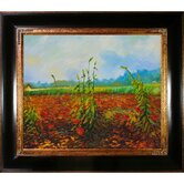 Green Ears of Wheat II Canvas Art by Vincent Van Gogh Impressionism