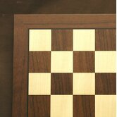 "20"" Veneer Chess Board in Dark Rosewood / Maple"