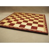 "18"" Pressed Leather Chess Board"