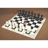 Alabaster Chess Set in Black / White