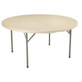 60&quot; Round Blow-Molded Folding Table