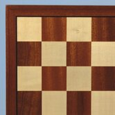 "15"" Sapele and Maple Veneer Chess Board"
