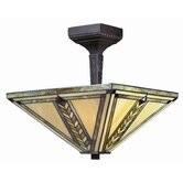 Shalimar 2 Light Semi Flush Mount