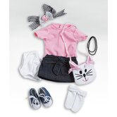 "18"" Doll - Pink Denim Outfit / Shoes"