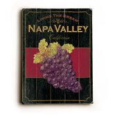 "Napa Valley Planked Wood Sign - 20"" x 14"""
