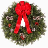 "Fresh Fraser Fir Wreath - The ""Traditional"" -  24"" -26"" (diam.)"