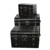 Large Storage Trunks (Set of 3)