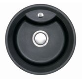 Vortex Single Bowl Inset Sink in Volcanic Black