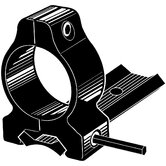 "Dovetail Style 1"" Rings and Base Set fits Winchester 70, 670, 770 in Matte Black"