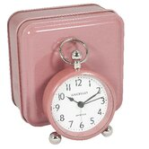 Pink Bedside Alarm with Pink Tin