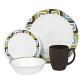 Livingware Squared 16 Piece Dinnerware Set
