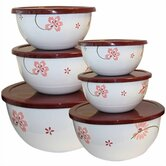 "Pretty Pink 12 Piece 8"" Bowl Set"