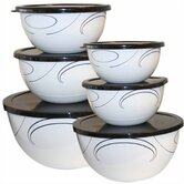 Simple Lines 12 Piece Bowl Set