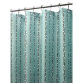 Bubbles On A String Shower Curtain in Aqua / Coffeebean