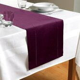 Hem Stitch Table Runner in Plum