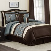 Cocoa Flower Bedding Collection in Blue / Brown
