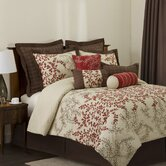 Hester Bedding Collection in Red / Wheat / Brown