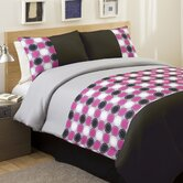 Mod Print Comforter Set in Pink / Gray