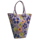 Natural Lavender Rose Jute Tote Bag