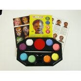 Pastel Rainbow 8 Color Face Paint Kit with Brush and Sponge
