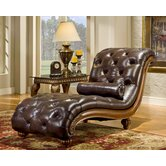 Heritage Blended Leather Chaise Lounge