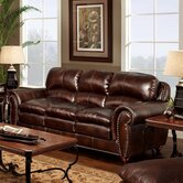 Aspen Blended Leather Full Sleeper Sofa