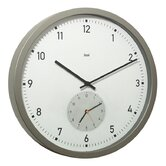 Here and There Twin-Dial Modern Wall Clock in White