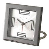 Diecast Square Travel Alarm Clock