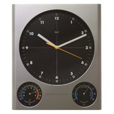 Tank Weather Station Wall Clock in Silver