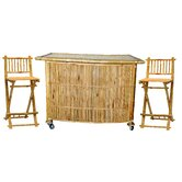 3 Piece Set with Bamboo Tiki Bar