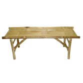 Natural Bamboo Folding Bench
