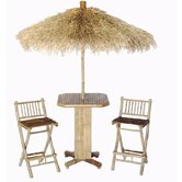 Bamboo 3 Piece Bar Height Dining Set