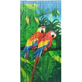 Double Parrot Scene Curtain