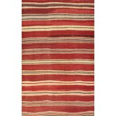 Kilim Red Striped Rug