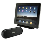 iPad and iPhone Portable Speaker Dock in Black