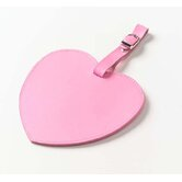 Colored Leather Heart Luggage Tag