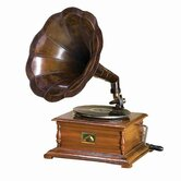 Study Wood and Metal Gramophone