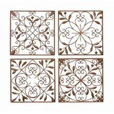 Toscana Metal Wall D&eacute;cor (Set of 4)
