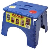 "9"" x 11.5"" EZ Folds Folding Step Stool in Blue"