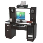 53.38&quot; Computer Workcenter with Hutch