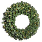 Douglas Fir 42&quot; Wreath with Clear Lights