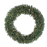 "Douglas Fir 100"" Wreath with Clear Lights"