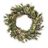 Prelit Country Pine Wreath with Clear Lights