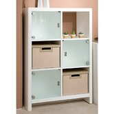 6-Cube Bookcase in Plumeria White Finish