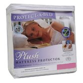 Plush Fitted Sheet Style Mattress Protector in White