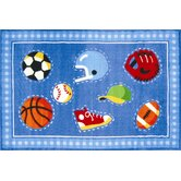 Olive Kids Go Team! Sports Kids Rug