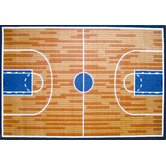 Fun Time Basketball Court Sports Kids Rug